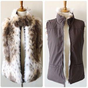 Reversible Faux Fur Vest Size Small